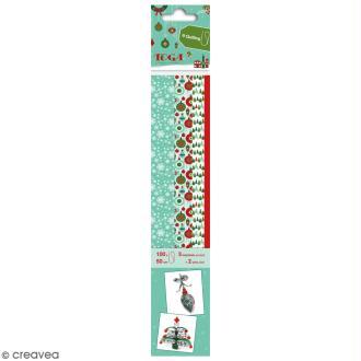 Bandes de papier quilling - Joyeux Noël - 4 tailles -100 pcs
