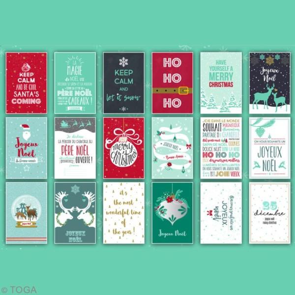 Bloc Déco cartes postales - Joyeux Noël - 15 x 10 cm - 18 feuilles - Photo n°2