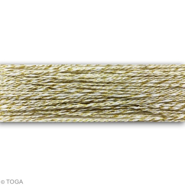 Bobine ficelle twine décorative Dorée  - 100 m x 1 mm - Photo n°2