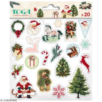 Stickers Puffies Toga - Dear Santa - 20 pcs