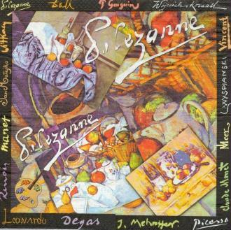 4 Serviettes en papier Peintre Cézanne Format Lunch