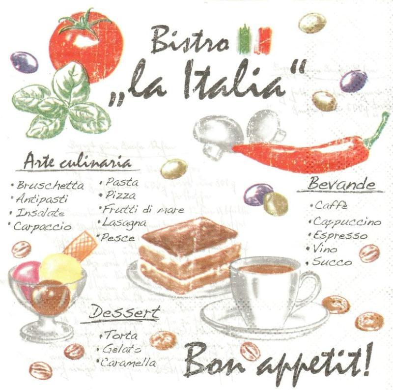 4 serviettes en papier cuisine italie format lunch for Agencement cuisine en l