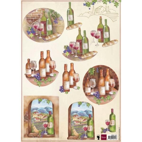 Image à découper - 10 illustrations Vins Merlot - Marianne Design - Photo n°1
