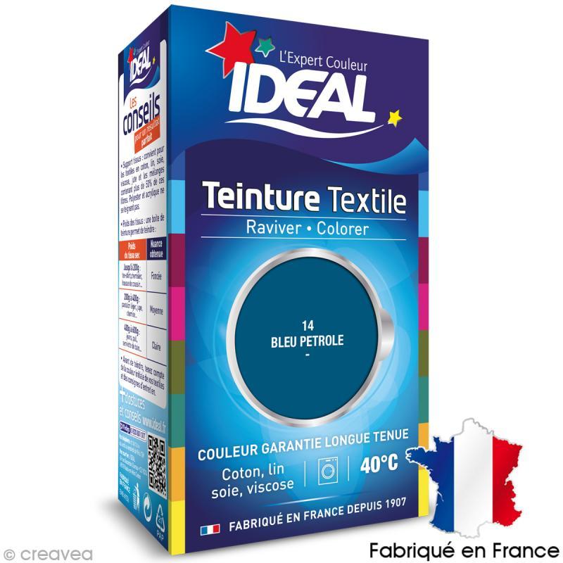 Teinture tissu id al liquide bleu p trole 14 mini teinture coton creavea - Teinture ideal polyester ...