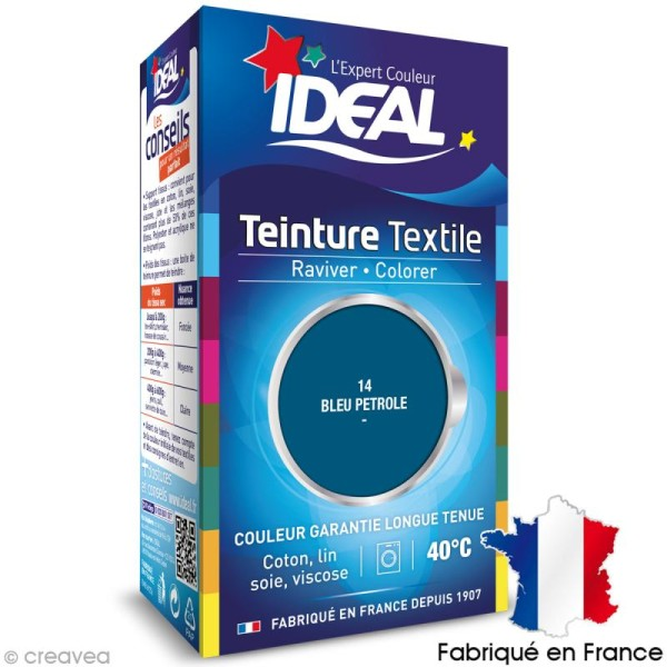 Teinture Tissu Idéal liquide bleu pétrole 14 mini - Photo n°1