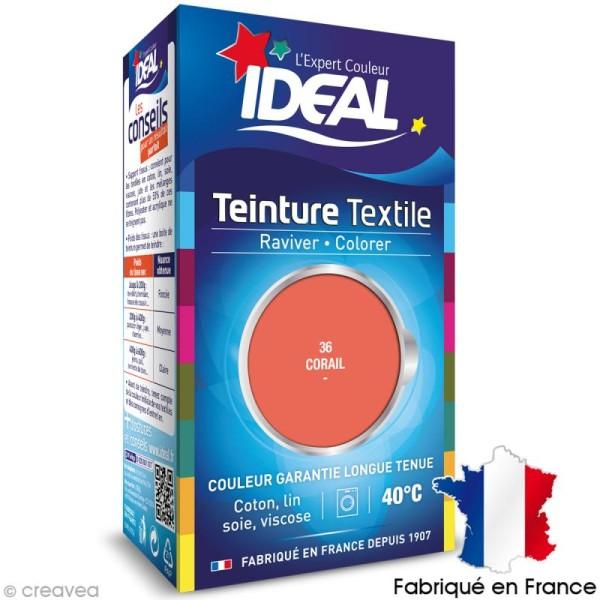 Teinture Tissu Idéal liquide corail 36 mini - Photo n°1