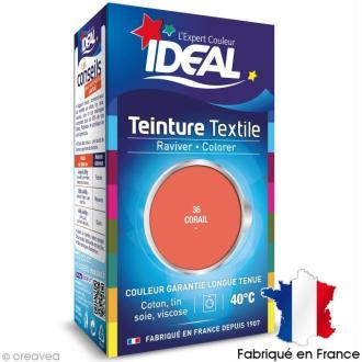 Teinture Tissu Idéal liquide corail 36 mini