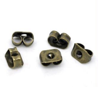 Lot de 25 poussoirs métal bronze