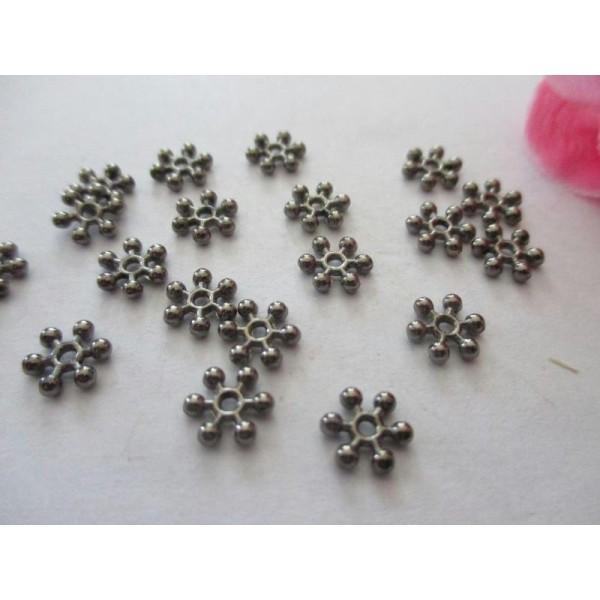 Lot de 40 en plastique blanc flocon de neige Perles
