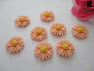 Lot de 20 cabochons fleurs brillantes 22 mm
