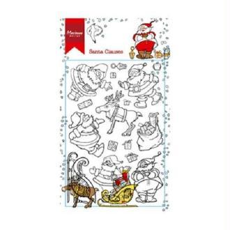 Tampon - Père Noel - Marianne Design -18 pcs