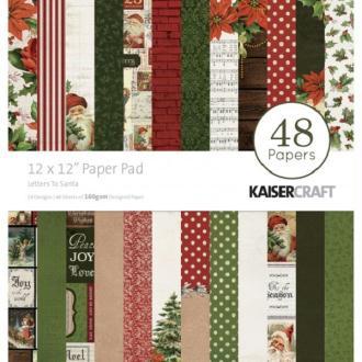 Bloc papier KAISERCRAFT - Letters to Santa - 30 x30 - 48 feuilles