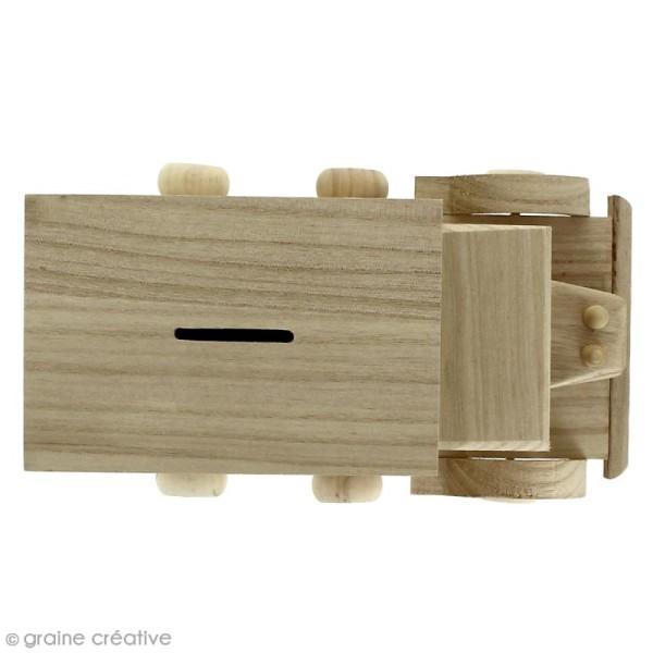 Tirelire Camion en bois à décorer - 25 x 15 x 14 cm - Photo n°2