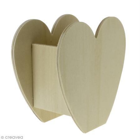 Pot coeur en bois a decorer 115 x 117 x 63 cm - Support bois a decorer pas cher ...