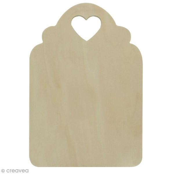 Planche d couper coeur en bois d corer 18 x 26 x1 2 cm support d co fantaisie creavea - Modele de coeur a decouper ...