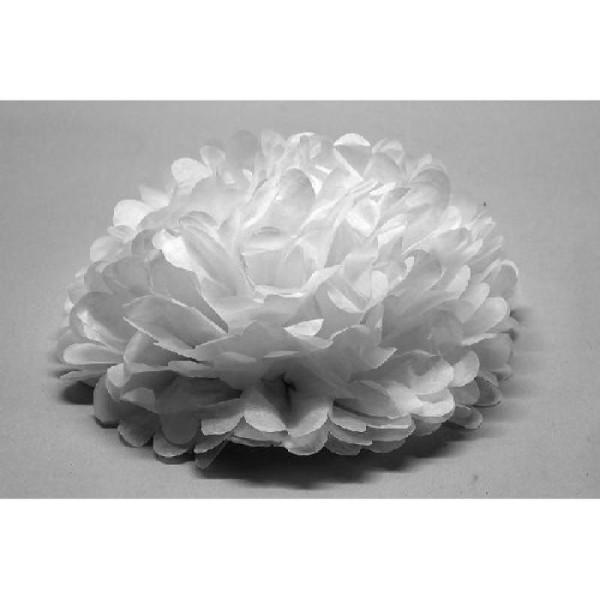 1 Boule Fleur Blanche Décorative 45 Cm Décoration Mariage Creavea