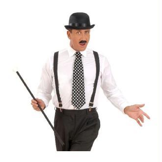 1 Cravate Noire À Pois Blancs