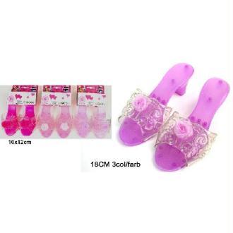 1 Paire De Chaussures Princesse Rose 18 cm