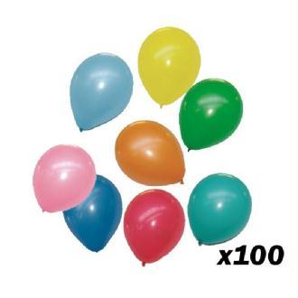 100 Ballons 30 cm (Couleurs Assortis Multicolore)