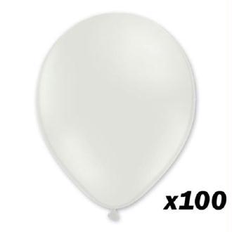 100 Ballons Blanc 30 cm