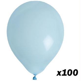 100 Ballons Bleu Ciel 30 cm