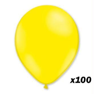 100 Ballons Jaunes 30 cm
