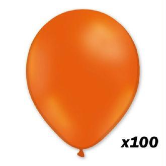 100 Ballons Orange 30 cm