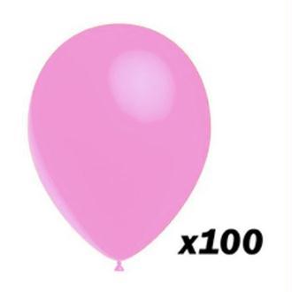 100 Ballons Rose 30 cm