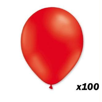 100 Ballons Rouges 30 cm