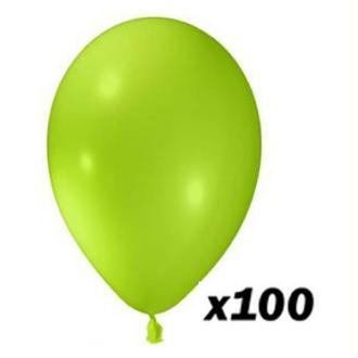 100 Ballons Vert Pistache 30 cm