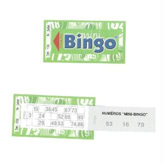 100 Carnets Mini Loto Et Bingo Numérotés 6 x 12 cm