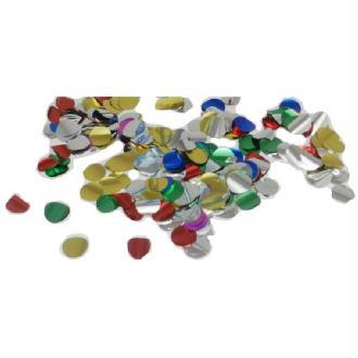 100 Gr Confettis Métalliques Ronds Multicolores 5 cm