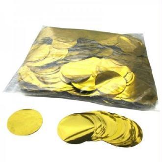 100 Gr Confettis Métalliques Ronds Or 5 cm