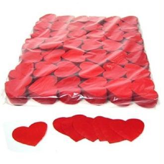100 Gr Confettis Papier Cœur Rouge 5 cm