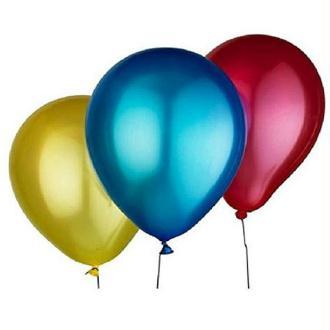25 Ballons Métallisés Multicolores Diamètre 30 cm.