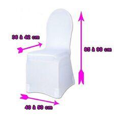 D coration mariage acheter d coration et accessoires pour mariage au meilleur prix creavea - Housses de chaises en tissu ...