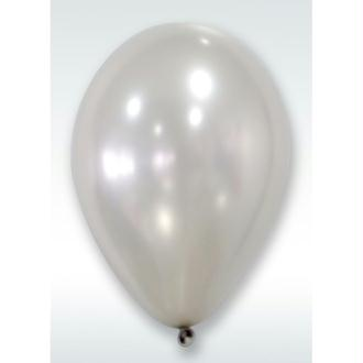 50 Ballons Métalliques Argent 30 cm