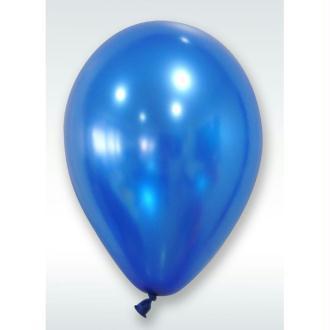 50 Ballons Métalliques Bleu Marine 30 cm