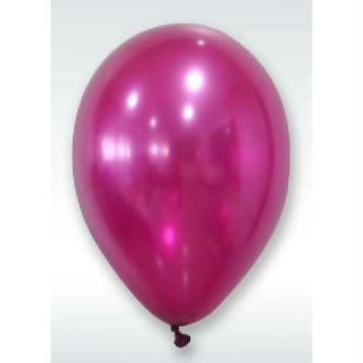 50 Ballons Métalliques Bordeaux 30 cm