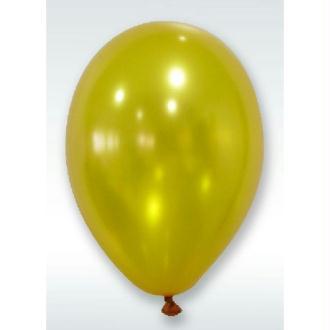 50 Ballons Métalliques Or 30 cm