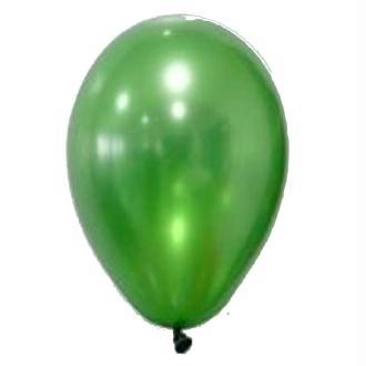 50 Ballons Métalliques Vert 30 cm