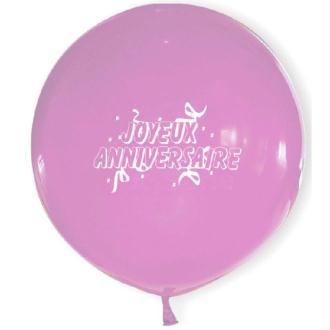 6 Ballons Géants Roses 50 cm