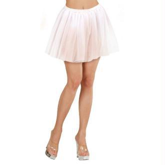 Tutu/jupon 30 cm blanc en tulle 2 plis - Taille unique S/M/L