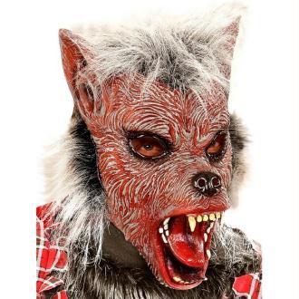 Masque loup garou enfant avec poils
