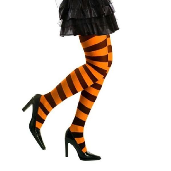 Widmann Collants /à rayures orange//noir
