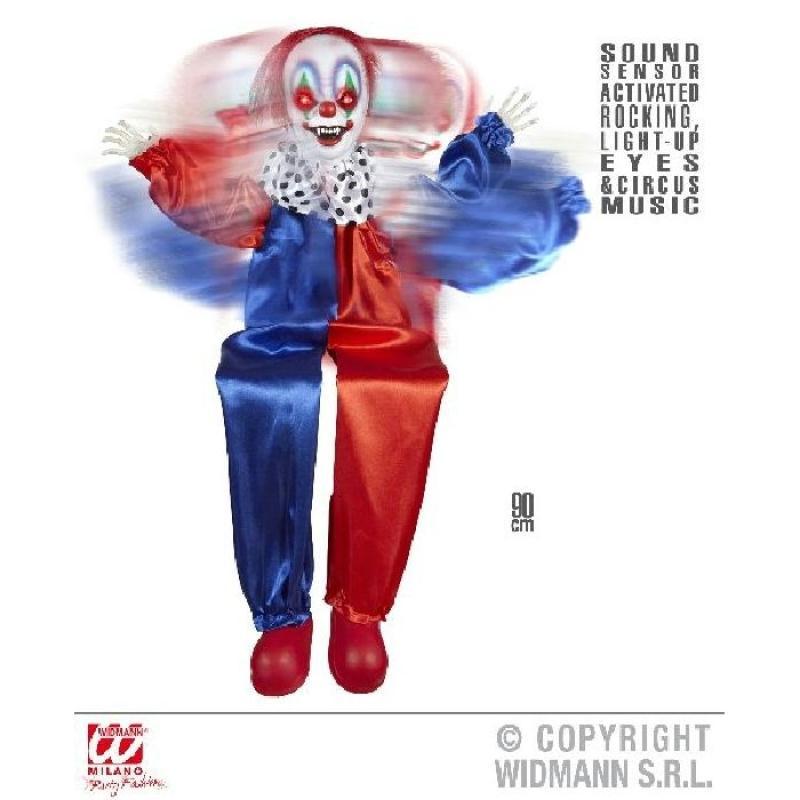 Clown animé se balançant 90 cm Décoration Halloween