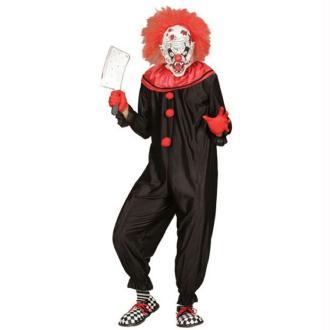 Combinaison Clown Tueur Noir/Rouge - (44/48)