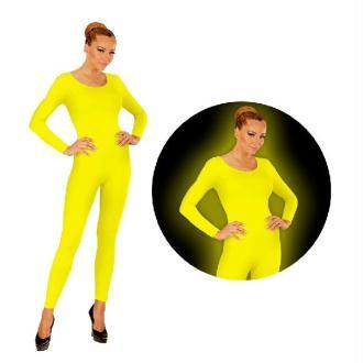 Justaucorps à manches longues jaune fluo - Taille M/L