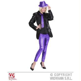 Legging Violet à Paillettes - Taille M