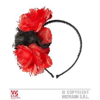 Serre Tête Roses (rouge et noir)